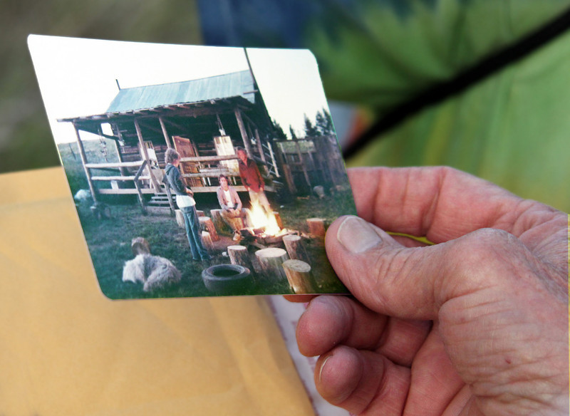 Ken Anderson shared photos that were taken at the cabin in the 1970's, when his family still occupied the structure.