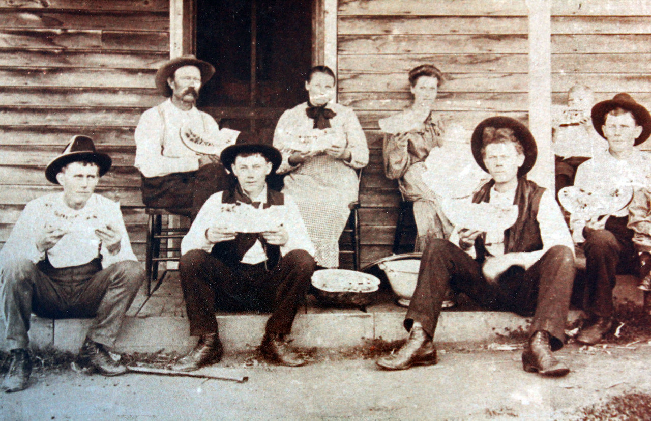 We can't name them, but these folks are all believed to be members of the Miller family that built the cabin.