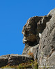 In Franconia Notch, many rock outcroppings seem to resemble faces