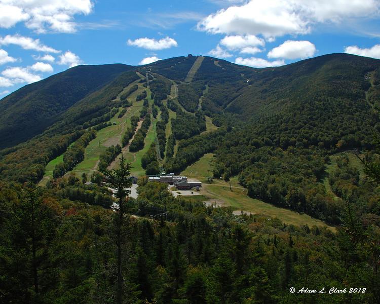 The ski slopes on Cannon Mountain