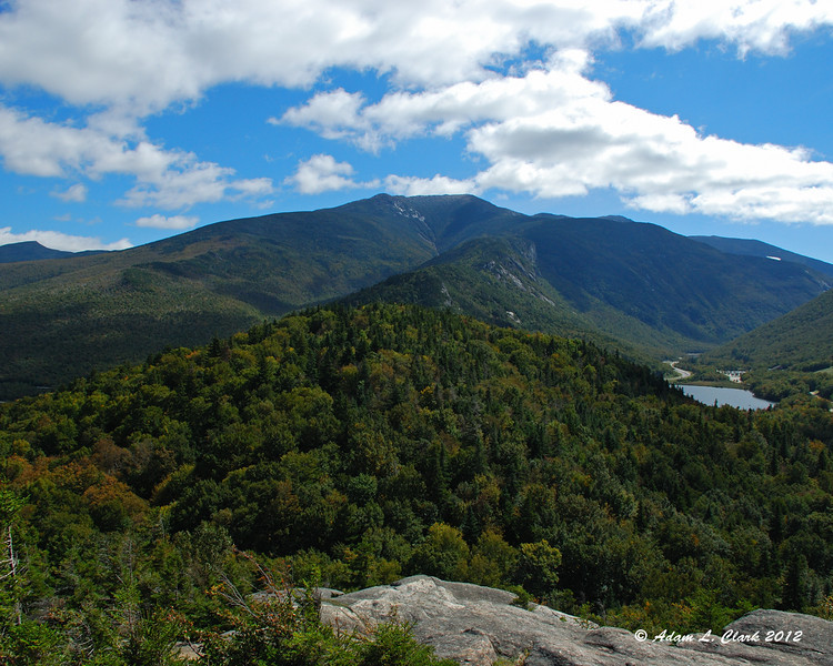 View to Franconia Range from the summit of Bald Mountain