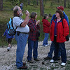There's always a chance to visit with old friends and catch up on recent activities before the hike begins.  Most of the <i>Moon Walks</i> are only a mile or so round-trip -- and the September trek to Deerfield Reservoir was less than 900 yard round-trip!