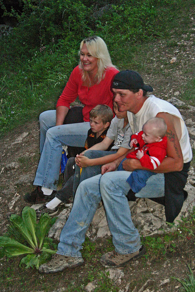 This would appear to be a family outing for these folks -- and that lad on the lap is probably the youngest caver of our group.