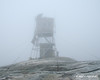 I was about 100 feet from the fire tower before I could finally see it in the thick clouds