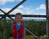 Liliana at the top on the fire tower.  She was a bit nervous with the wind at the top of the tower