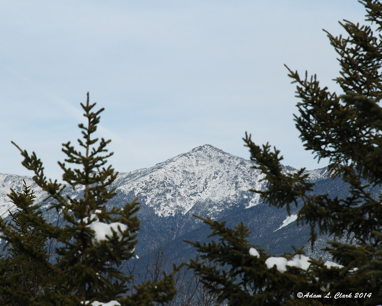 Mt. Lincoln was the most blocked by the trees of the peaks across the notch on Franconia Ridge
