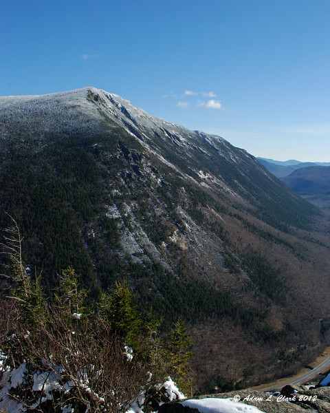 The steep face of Mt. Webster forms the eastern side of Crawford Notch