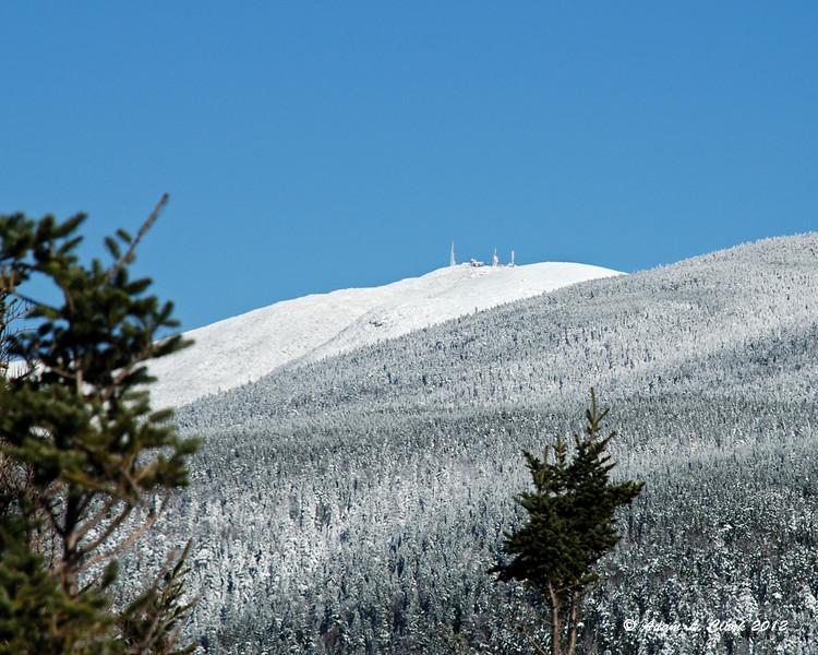 A snow covered Mt. Washington