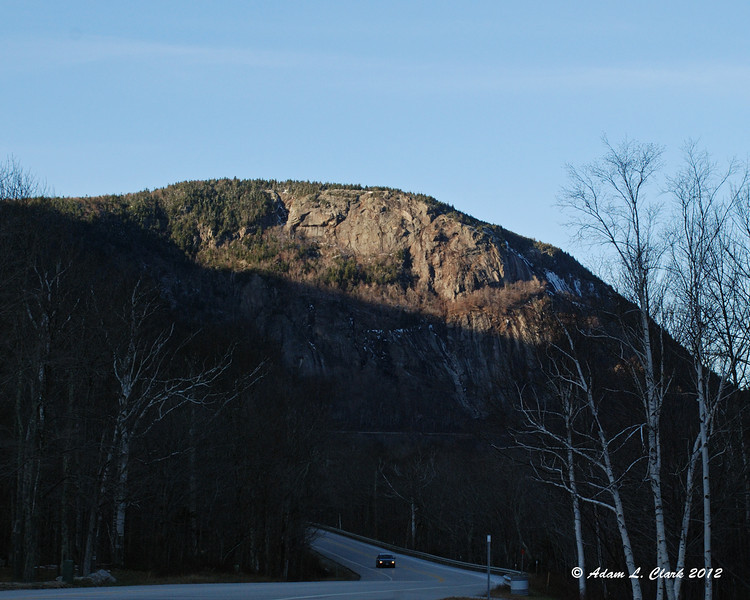 A look back at Mt. Willard from within Crawford Notch