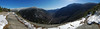 Panoramic view of Crawford Notch