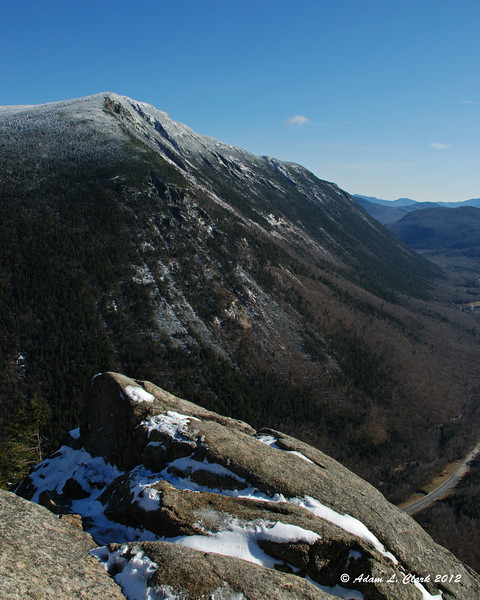 Looking across the notch