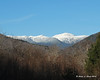 At the southern end of Crawford Notch State Park, there is a fine view up a valley to Mt. Washington and the Presidential Range just below it