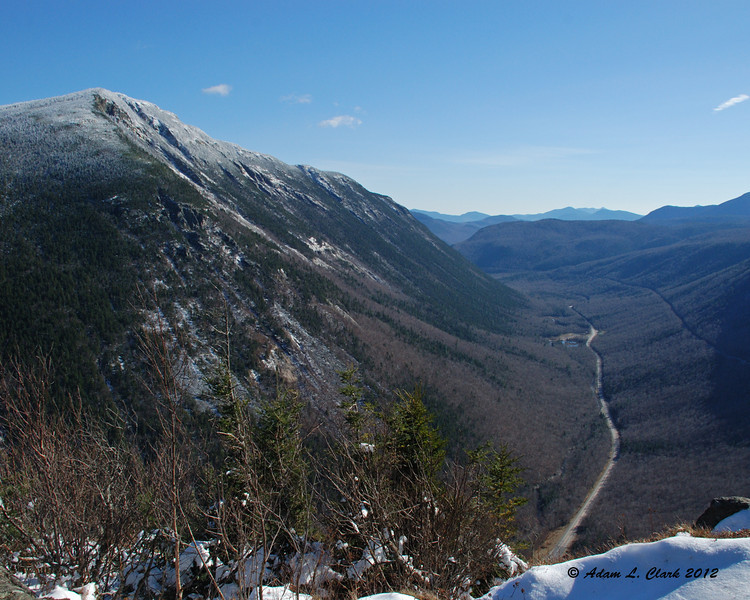 Mt. Webster with Route 302 at the base of the notch