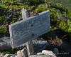 Summit sign on Mt. Coe