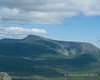 A closer look at Mt. Katahdin with the Knife Edge visible on the left and the Tablelands on the right