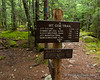Sign at the junction with the Mt. Coe Trail