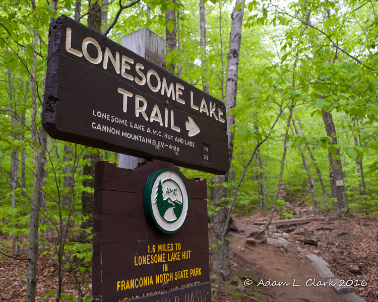 The start of the trail inside the Lafayette Place Campground