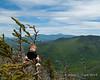 Miles enjoying the view near the summit