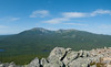 A panoramic shot looking west to Mt. Katahdin