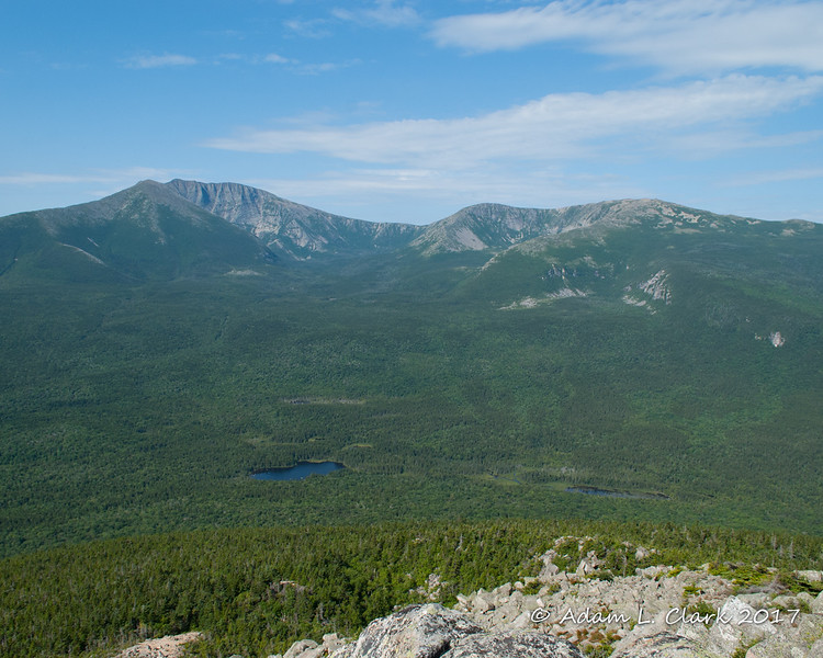 Looking west to Mt. Katahdin from the summit