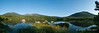 Panoramic shot from Sandy Stream Pond.  Mt. Katahdin on the left and South Turner Mountain on the right