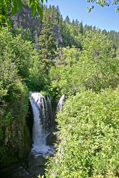The upper falls provide visitors with views comparable to Bridal Veil Falls, farther down Spearfish Canyon.<br /> <br /> You may click on any of these photographs in order to see a larger image.