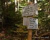 Signs at the turn where the Willey Range Trail starts.  Almost to the highest spot on the trail for the day already