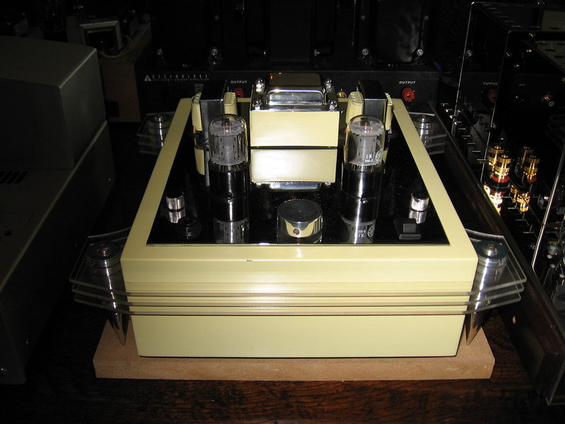 Luther's Bottlehead SEX amp. Everybody who heard it was amazed by how well it drove the big line arrays.