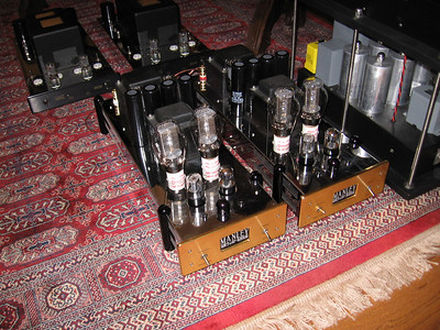 John's Manley Neo Classic 300B's can be played as a parallel 300B SET amp or as a PP amp.