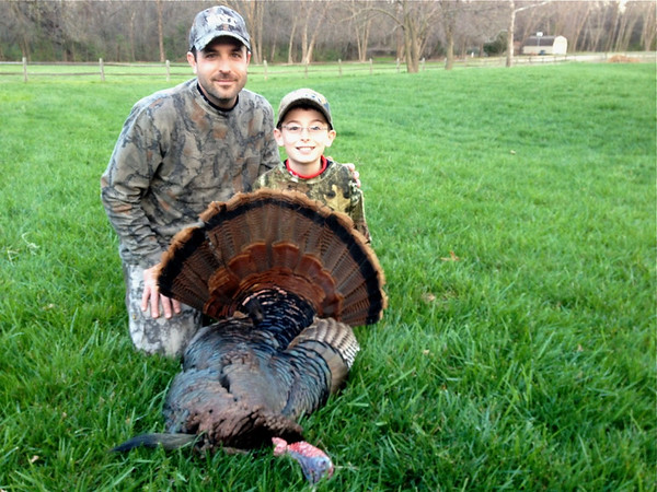 Globe reporter Andra Stefanoni's son bagged his first turkey, an Eastern tom, on the third day of the 2013 season.