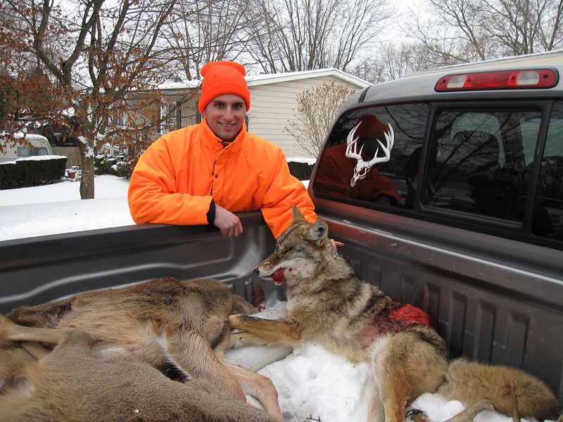 Dan with his coyote.