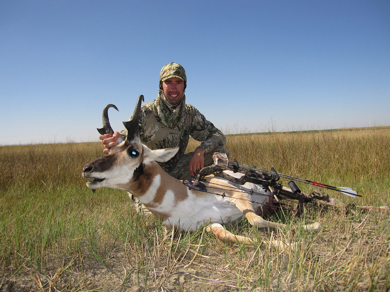 "My first ever antelope shot on day 3 of my first time out in the plains after ""goats"""