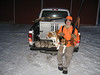 Evan Blakley with Zeke and Buddy and four rabbits shot near Rochester MN on Jan. 22, 2009.