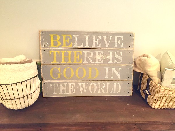 A sign I made from some old scrapwood.