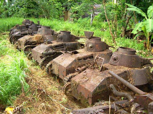 Those Type 95 tanks are on Pohnpei which in part of the Caroline Islands.