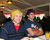 Jake and JD waiting for breakfast in the Tuolumne Lodge dinning room/tent.