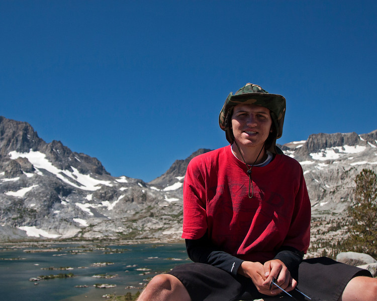 Jake with 1000 Island Lake in the background.