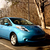 My colleague bought a brand new Nissan Leaf! I was fortunate to take a pic on the first day itself!