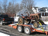 Feb. 10, 2007: Joe's Farmall Cub loaded and headed for rejuvenation by students in the Triton High School ag shop.