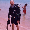 Creature from the Black Lagoon? No, Clay finishing a scuba dive in the Red Sea during our Q-family Egypt vacation.
