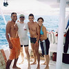 Clay with Divemaster and Italian couple after their scuba dive in the Red Sea during our Q-family Egypt vacation. The Italians sent Clay some china they recovered from a Red Sea wreck.