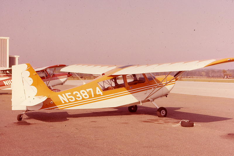 Tail-dragger/ joystick Citabria on which Clay learned how to fly in Prattville, Alabama, in 1977.