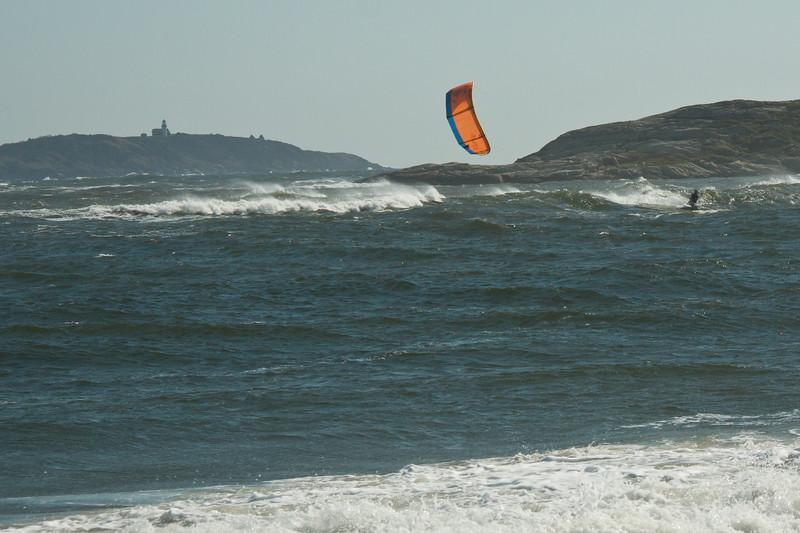 Kite boarding, Popham Beach State Park, Phippsburg, Maine