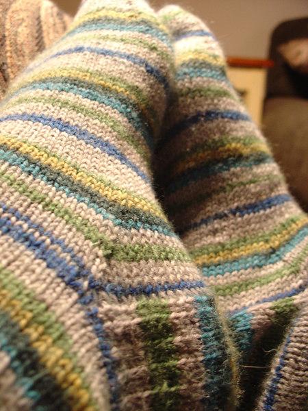 Fast Socks - Lana Grossa yarn started and finished Feb '07