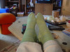 Simple stockinette socks, finished May 2007