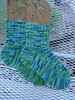 Mom's cross stitch cable socks - finished July 2007