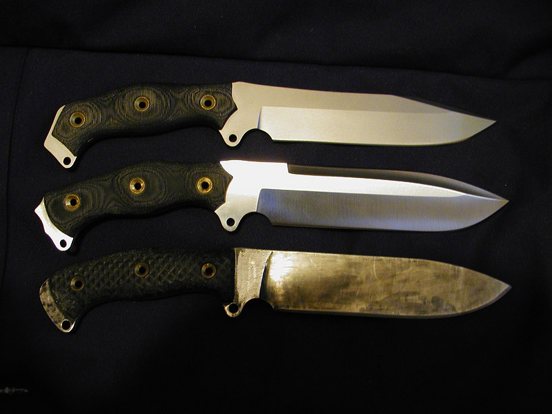 Three Busse Combat Steel Hearts...two variants and the SH-E