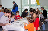Participants at the Make & Take Program at the Cradle of Aviation Museum, conducted by the Long Island Scale Model Society.