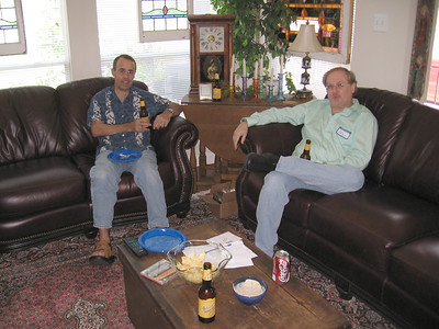 Houston Audio Society members Graham Duhamel and Dan Calhoun.