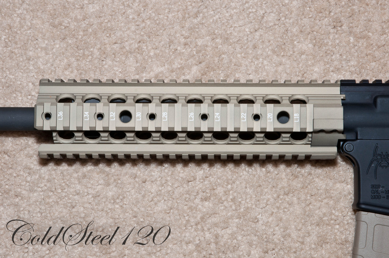 "Troy Ind 9"" Modular Rail Forend Free Float with a Hidden Troy Ind Gas Block"